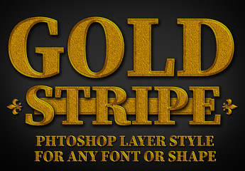 Textured Gold Text Style