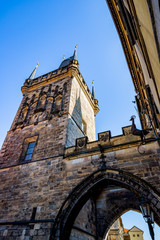 La Tour du Pont Malá Strana du Pont Charles à Prague