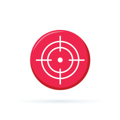 Selection of target icon. Simple illustration of selection of target vector icon for any design red.