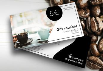 Coffee Gift Voucher Layout