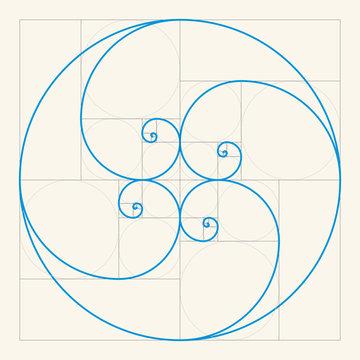 Golden ratio , Golden proportion vector