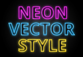 Neon Text Style