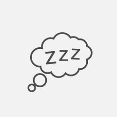 Dozing sleep icon