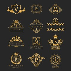 mega collection crown with golden color and black background