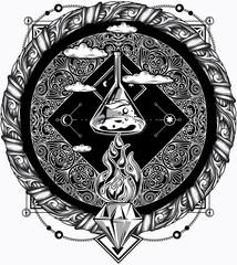 Alchemy vintage ornate emblem