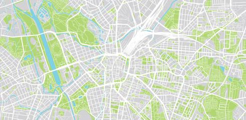 Urban vector city map of Leipzig, Germany
