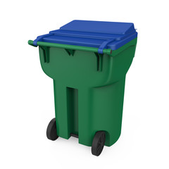 Trash Can Isolated