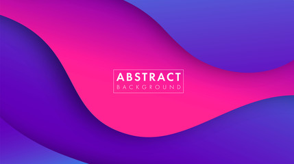 Colorful abstract geometric background.Trend gradient. Fluid shapes composition. Eps10 vector. Wall mural