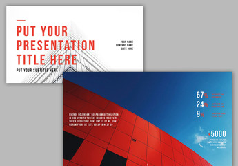 Presentation Layout with Red Accents