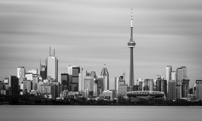 Wall Murals Toronto Long Exposure of Toronto Skyline in Black and White