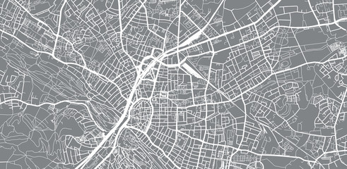 Urban vector city map of Bielefeld, Germany