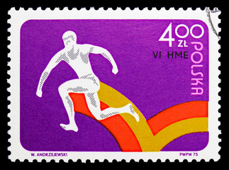 Hop, step and jump, 6th European Indoor Athletic Championships, Katowice serie, circa 1975