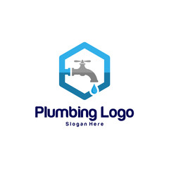 Plumbing or Service logo design concept, Business logo template