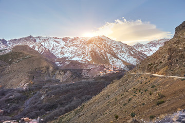 Aroumd, a small Berber village in the Ait Mizane Valley of the High Atlas mountain