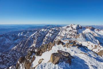 Toubkal - highest mountain peak of Atlass mountains Morocco