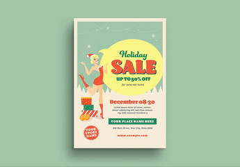 Christmas Sale Flyer Layout