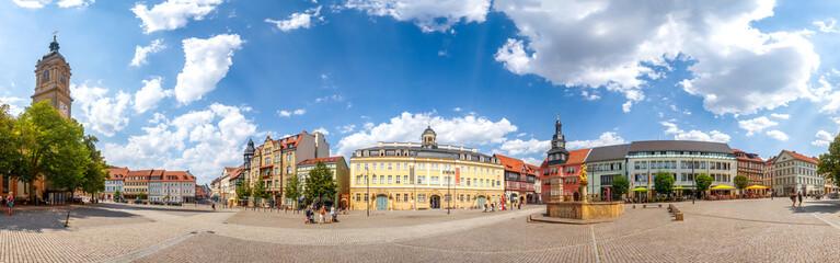 Wall Mural - Eisenach, Marktplatz, Panorama mit Georgenkirche