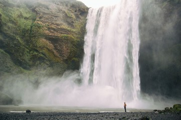 View of Iceland waterfall