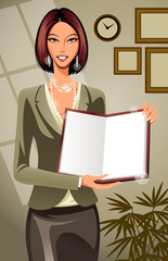 A Businesswoman Giving Presentation
