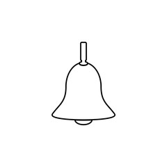 christmas bells, church bell - school bell icon. Simple outline vector of education set for UI and UX, website or mobile application