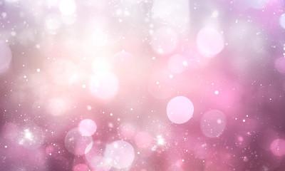 Pink blurred bokeh background,valentine christmas backdrop.