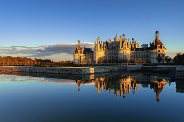 Chateau Chambord at golden hour