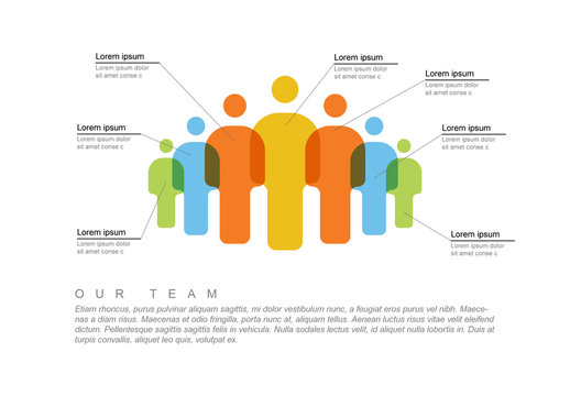 Colorful Team Infographic Layout
