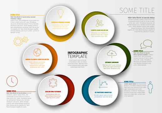 Cutout Circles Infographic Layout
