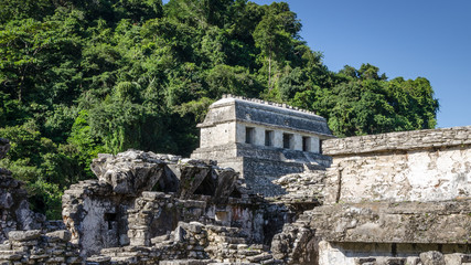 The Temple of Inscriptions, Ruins of Mayan City Palenque in Mexico