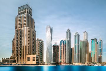 Day view of sea bay in Dubai Marina, UAE