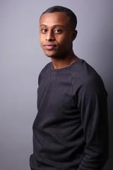 Portrait of a beautiful black man