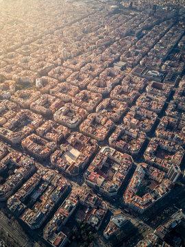 Aerial view of a neighborhood in Spain