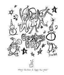 크리스마스 / 손으로 그린 성탄절 포스터