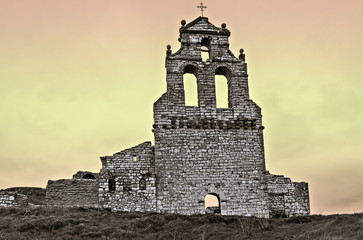 Church in ruins in Mota del Marques