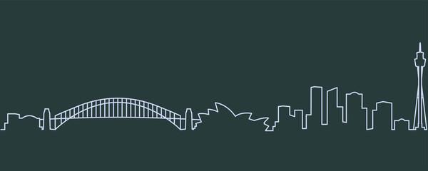 Sydney Single Line Skyline
