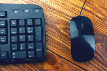 ..Keyboard of a computer and mouse