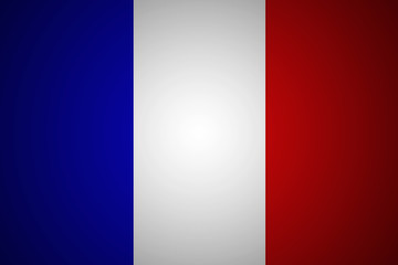 Flag of France in minimalistic design and high resolution