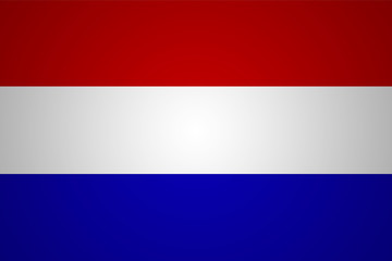 Flag of Netherlands in minimalistic design and high resolution