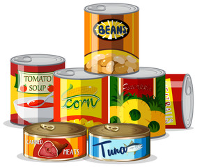 Set of canned food