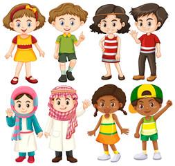 Group of international children character
