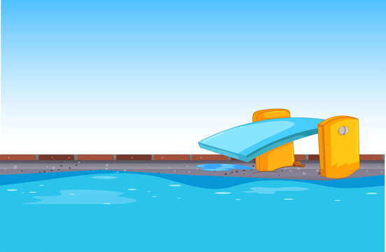 Blue swimming pool background