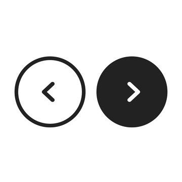 Circle Slider Buttons Arrows Vector