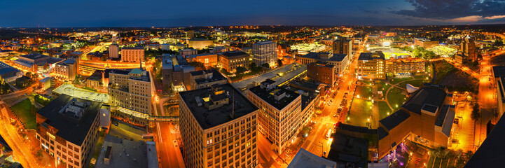 Wde Panoramic view of Akron Ohio
