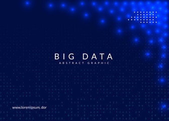 Deep learning background. Technology for big data, visualization, artificial intelligence and quantum computing. Design template for energy concept. Vector deep learning backdrop.