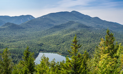 View at Heart Lake and Algonquin Mountain