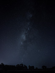 Milky way at the field