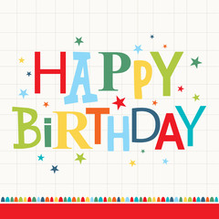 colorful birthday greeting card design