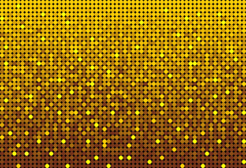 The Banner Gold Sequins, Glitter, Sparkle, Back.