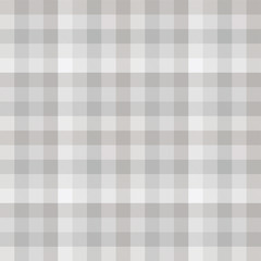 Seamless plaid pattern in tints of pale grey.