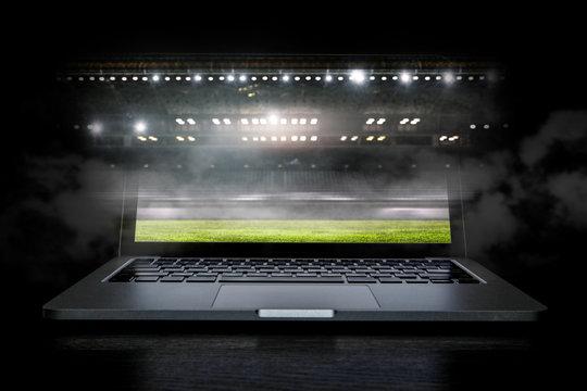 Sport stadium in lights